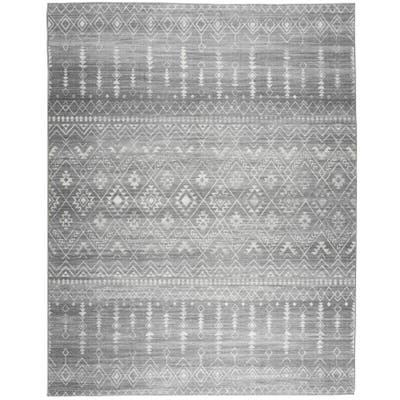Realife Machine Washable - Moroccan Rug - Gray Ivory
