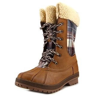 London Fog Swanley Women Round Toe Synthetic Tan Winter Boot