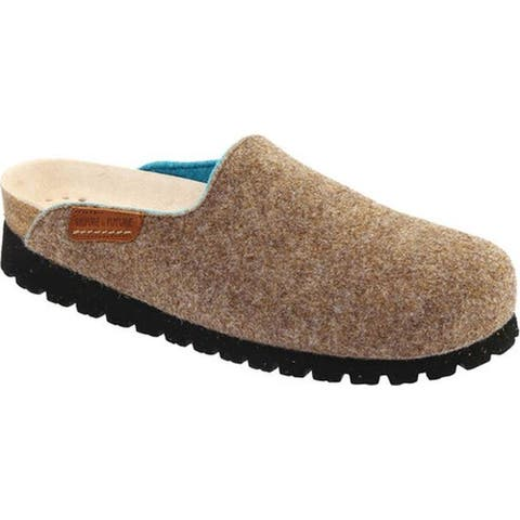 Mephisto Women's Thea Clog Taupe/Turquoise Sweety Wool