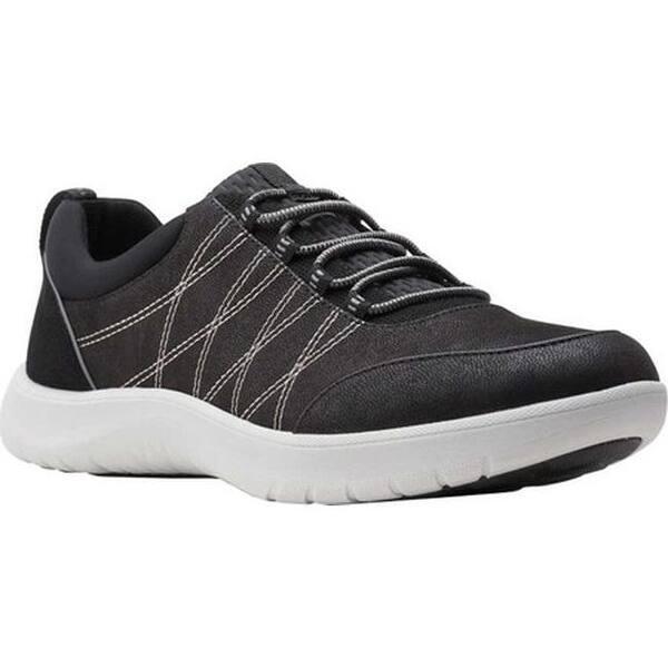 al menos Salvación meteorito  Shop Clarks Women's Adella Holly Sneaker Black Textile - On Sale -  Overstock - 32001031