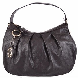 New Gucci 364843 Brown Guccissima Leather GG Charm Sukey Purse Bag Hobo