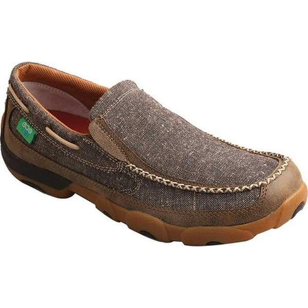 d88fbd63196 Shop Twisted X Boots Men's MDMS012 Driving Moc Dust Canvas - Free ...