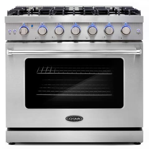 36 in. Freestanding Gas Range with 6 Sealed Burners and 6.0 cu. ft. Capacity Convection Oven in Stainless Steel