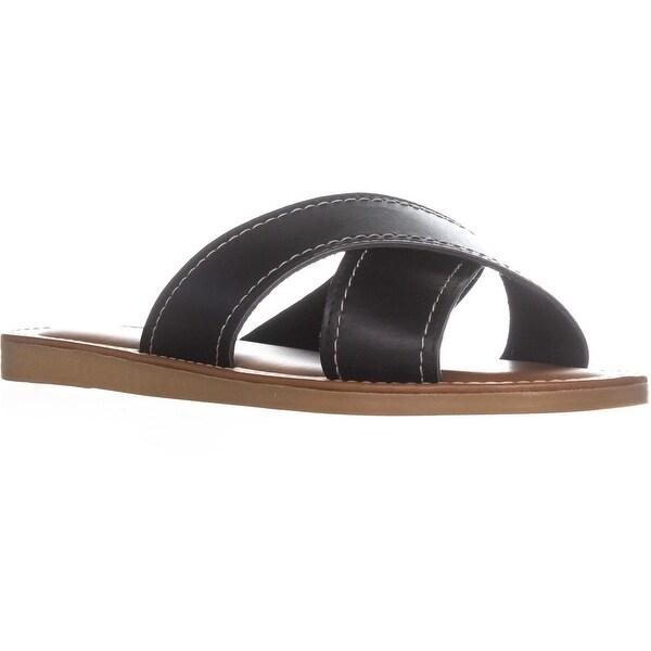 Easy Street Evelina Criss Cross Slide Sandals, Black