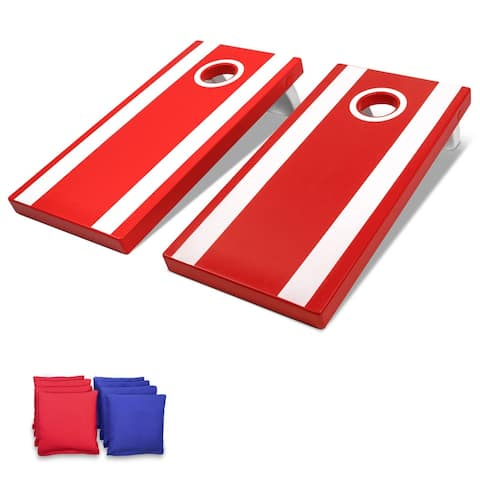 GoSports 4'x2' All Weather Cornhole Game Set - Includes 8 Bags & Game Rules