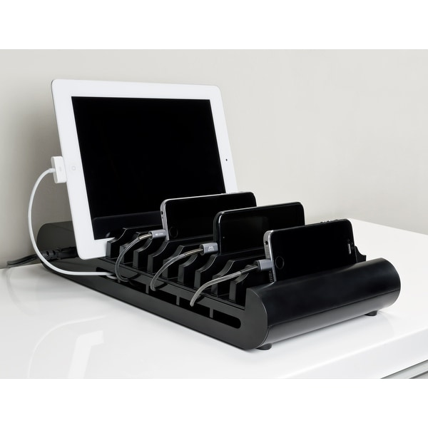 Sewell 10 port USB Desktop Charger with 10 Slots, 96W
