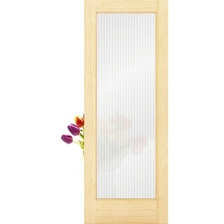 Frameport RGL-PD-1L-6-2/3X2-1/3 Reeded Glass 28 Inch by 80 Inch 1 Lite Passage D