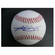 Signed Wilson CJ Major League Baseball in Blue Ink on the Sweetspot autographed