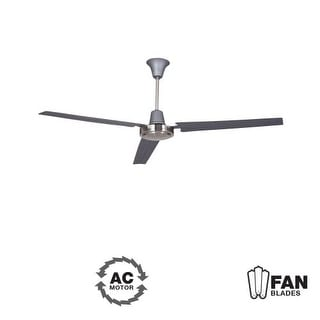 "Ellington Fans Utility Modern 56"" 3 Blade Indoor Ceiling Fan - Blades Included"