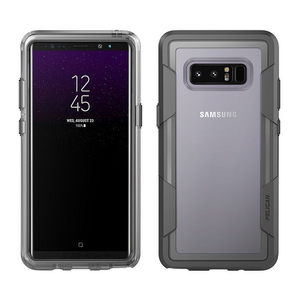 Pelican Voyager 4 Layer Extreme Protection Case for Samsung Note 8 - Clear/Grey
