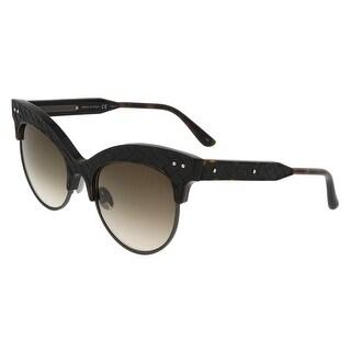 Bottega Veneta BV0014/S 002 Havana-Brown Cateye Sunglasses