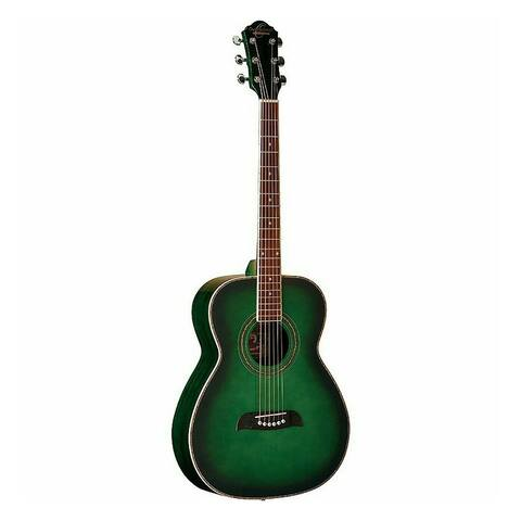Oscar Schmidt Acoustic Guitar Dreadnought Trans Green OG2TGR