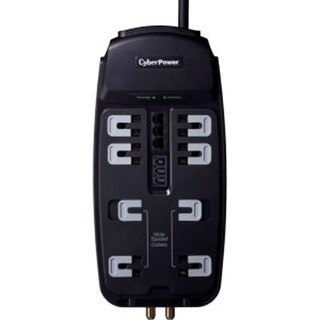 Cyberpower Csht808tc Home Theater 8-Outlet Suppressor 8Ft Cord And Av Protection