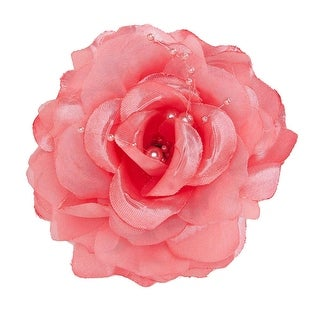 French Beauty Rose Hair Clip with Bead Detail