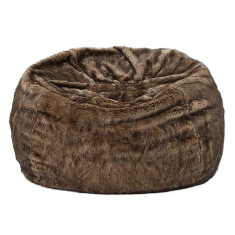 Landrum Modern 3 Foot Faux Fur Bean Bag (Cover Only) by Christopher Knight Home