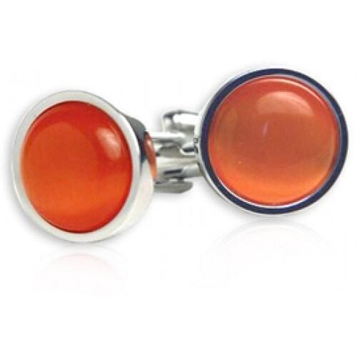 Bold Orange Cufflinks