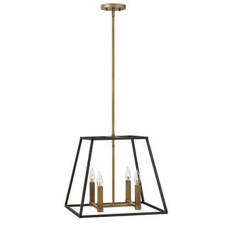 """Hinkley Lighting 3334 4 Light 16.25"""" Height Indoor Lantern Pendant from the Fulton Collection"""