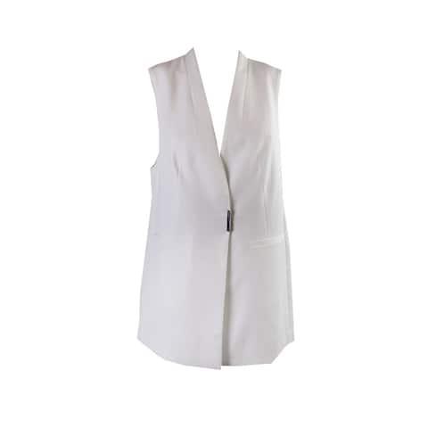 Alfani White Structured Vest 8
