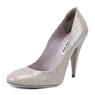 Miu Miu 5I9326   Round Toe Leather  Heels