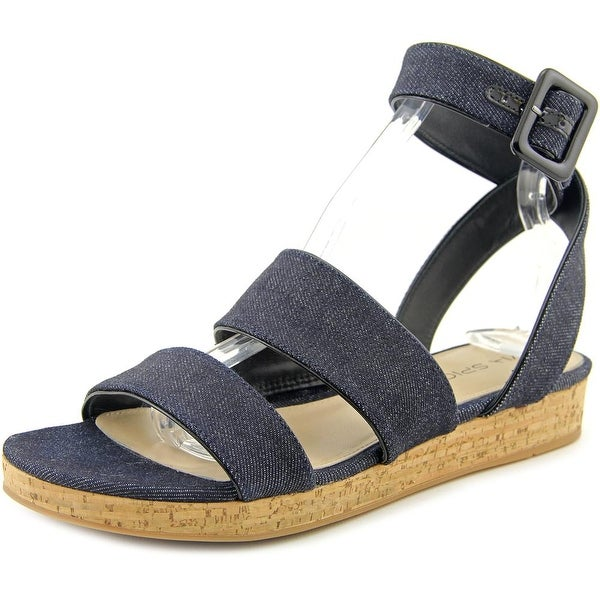 Via Spiga Dianne Women Open Toe Canvas Blue Gladiator Sandal