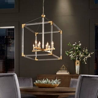 Link to Galway Matte Gold Acrylic Cube Chandelier by iNSPIRE Q Bold Similar Items in Pendant Lights