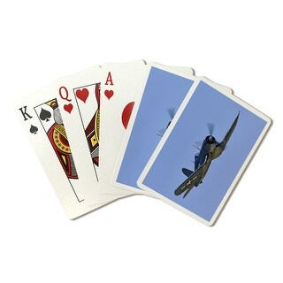 Chance Vought F4U Corsair - (Jeff Cook) - Lantern Press Photography (Playing Card Deck - 52 Card Poker Size with Jokers)