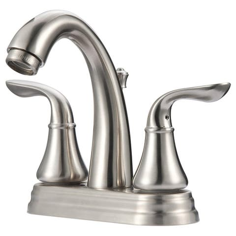 Ultra Faucets UF45723 Arc Two-Handle Bathroom Sink Faucet Brushed Nickel - Brushed Nickel