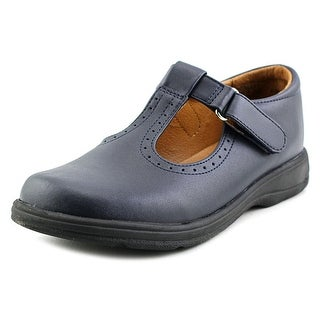 School Issue Primary Youth W Round Toe Leather Blue Mary Janes