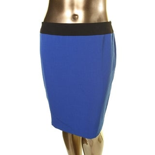 Kasper Womens Petites Solid Lined Pencil Skirt - 10P