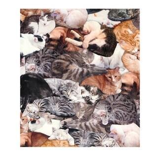 Cat Lovers Fleece Single Standard Size Pillowcase - 22 in. x 32 in.