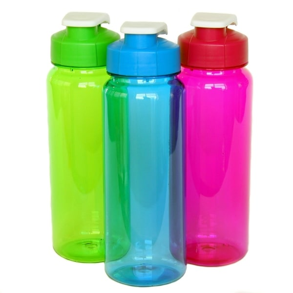 Flip Top Plastic Water Bottle 21 Oz 36 Units Free Shipping Today 23553706