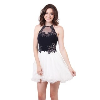 Two Tone Jersey Tulle Dress