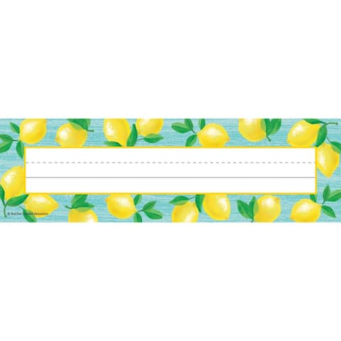 "Lemon Zest Flat Name Plates, 11.5"" x 3.5"", Pack of 36 - One Size"