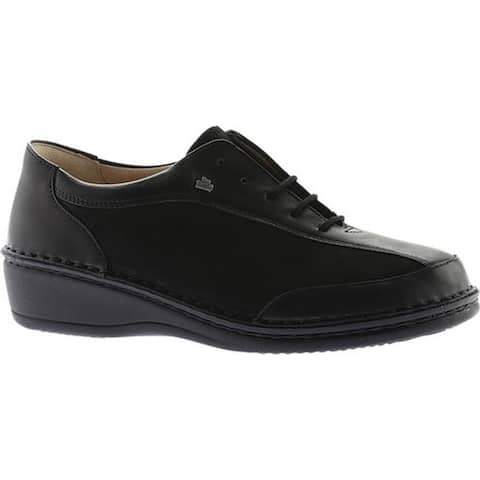 Finn Comfort Women's Hanoi Soft Sneaker Black Nappa Seda/Nubuck