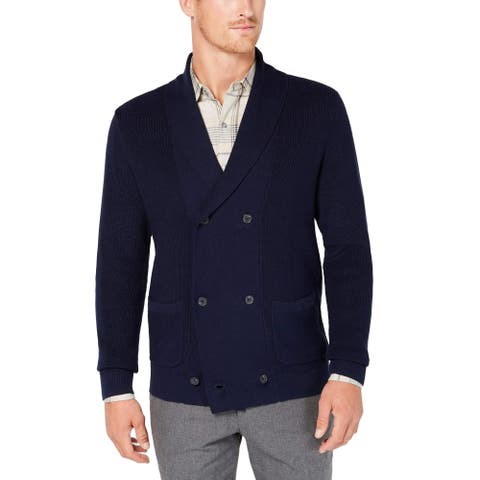 Tasso Elba Blue Mens Size Man. XL Double Breasted Cardigan Sweater