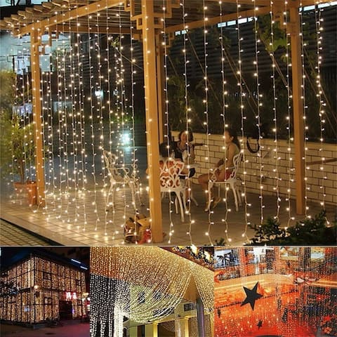 300-LED Warm White Light Romantic Christmas Wedding Outdoor Decoration