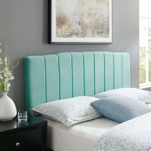 Camilla Channel Tufted King/California King Performance Velvet Headboard
