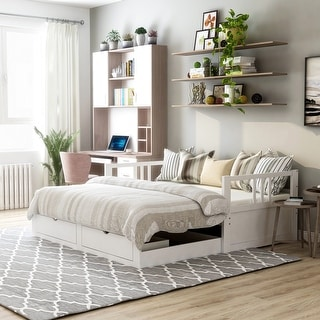 Link to Furniture of America Abrielle Twin/King Expandable Sleeper Daybed with Storage Similar Items in Bedroom Furniture