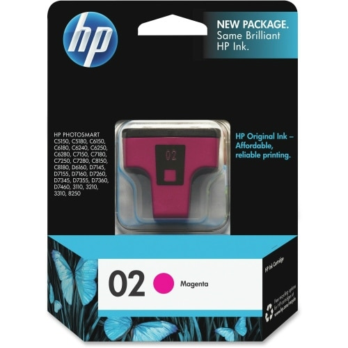 HP 02 Magenta Original Ink Cartridge (C8772WN) (Single Pack)