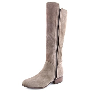 Steve Madden Pullon Women Round Toe Suede Gray Knee High Boot