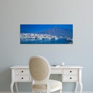 Easy Art Prints Panoramic Image 'Boats, Puerto Banus, Marbella, CostDel Sol,Province, Andalusia, Spain' Canvas Art