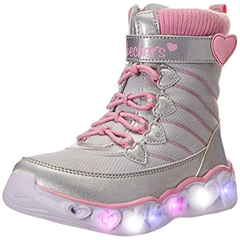 esta Vinagre Decisión  Skechers Kids Girl's Heart Lights 20287L (Little Kid/Big Kid) Gray/Pink -  Overstock - 32190355