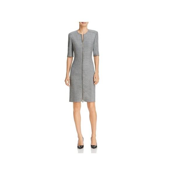 BOSS Hugo Boss Womens Demirana Wear to Work Dress Wool Zip Front - 10