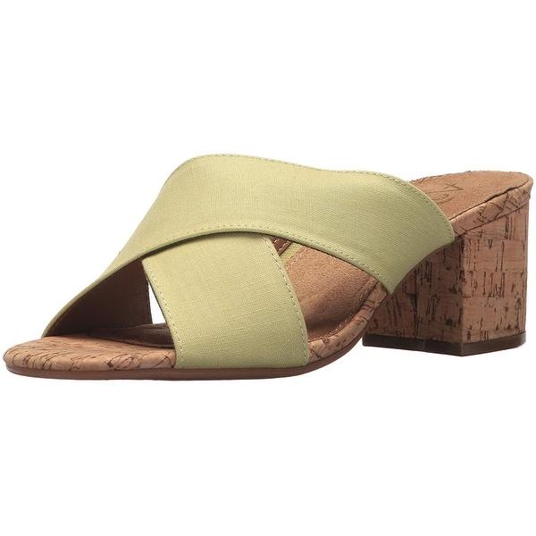Aerosoles Women's Midday Slide Sandal, Green, Size 8.5