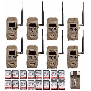 Cuddeback CuddeLink 20MP Trail Camera (8-Pack) with 16GB Card (16) and Reader