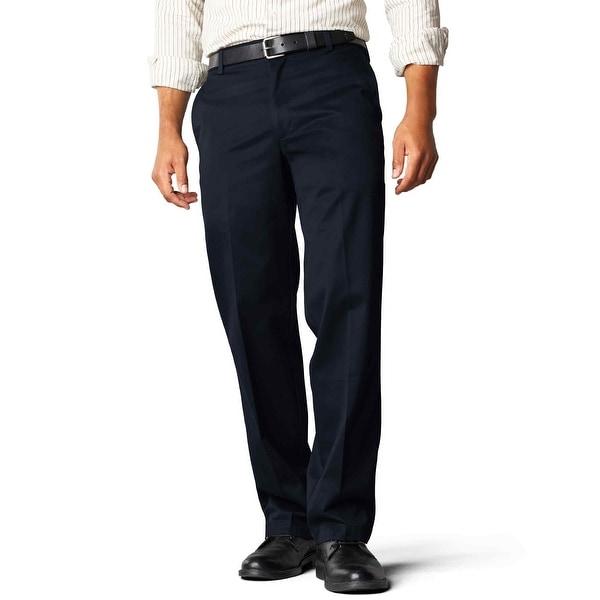Dockers Men/'s Straight Fit Flat Front Signature Khaki Pants 958280002 Navy Blue