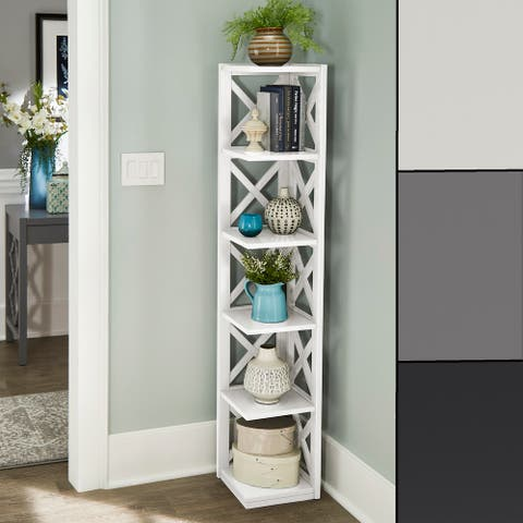 Kelsey X-Frame 5-Shelf Bookcase by iNSPIRE Q Classic