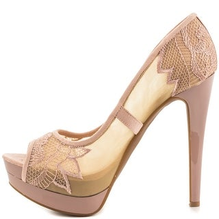 Jessica Simpson Womens SAIDEY Open Toe Platform Pumps
