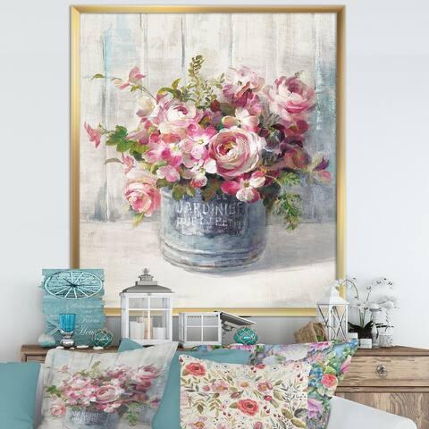 Designart 'Maison Des Fleurs III' Cabin & Lodge Framed Art Print