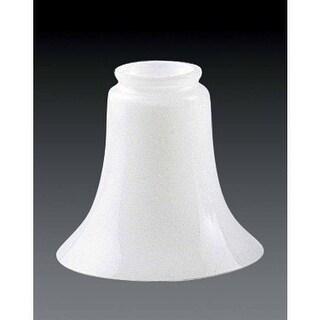"Volume Lighting GS-46 5.5"" Height White Glass Bell Shade"